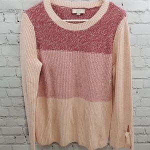 LOFT cotton ombré blush pink sweater